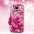Элегантный Дизайн Ручной Работы Люкс 3D Кристалл Алмаза Горный Хрусталь Case Обложка для Samsung Galaxy S6 S7edge S3 4 5 Ntoe 3 4 5