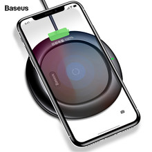 Baseus 10w Qi Wireless Charger For iPhone Xs Max X 8 Samsung S10 Xiaomi Mi 9 Mix 3 Doogee S60 Fast Wirless Wireless Charging Pad(China)