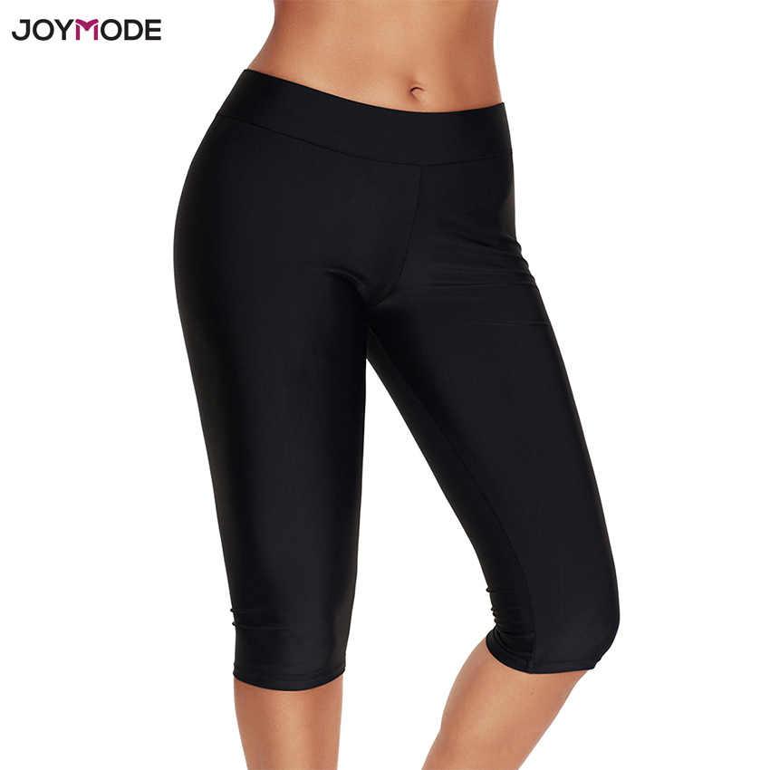 31001213913a0 JOYMODE для женщин плавание одежда низ черный плавание брюки для девочек  капри укороченные брюки фитнес плавки