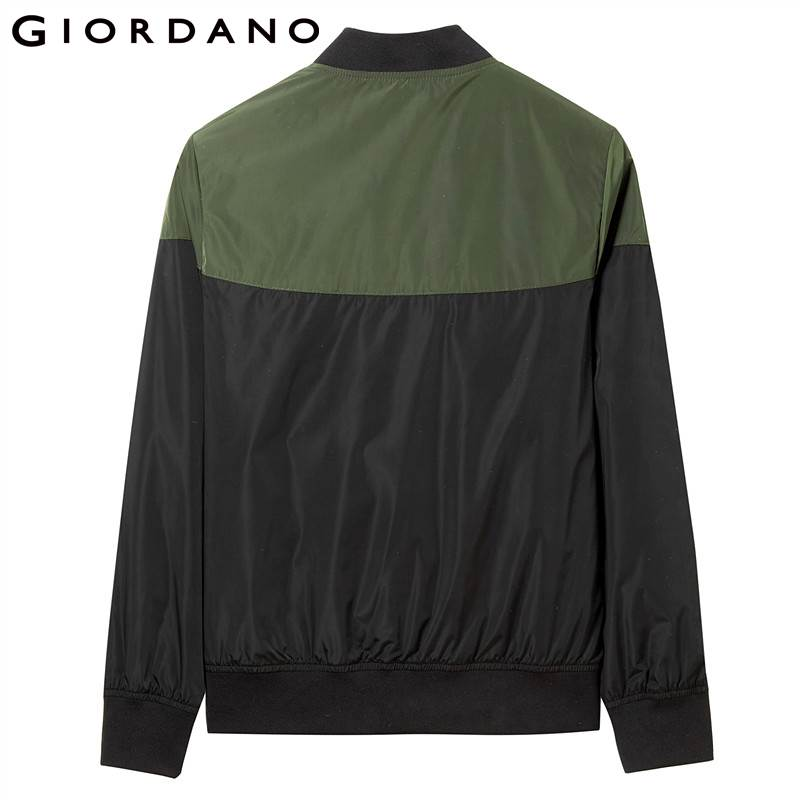 Multi Giordano Contraste couleur Conception 01black Col Baseball 100 Polyester Femmes Bomber Poches Veste fw0qfvr