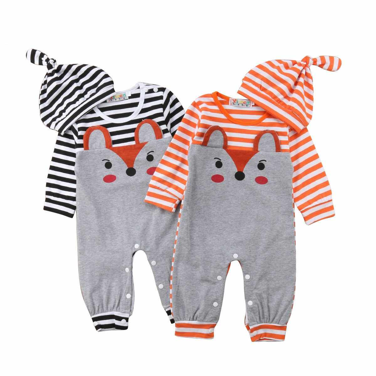 6632333eded Detail Feedback Questions about Newborn Infant Autumn Winter Rompers Baby  Boys Girls Cute Lovely Fox Pattern Jumpsuits+Hats 2pcs Suits Cotton Clothes  ...