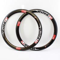 2Pcs Newest 700C 50mm Clincher Rims Racing Road Bike UD Full Carbon Fibre Bicycle Wheelset Rims