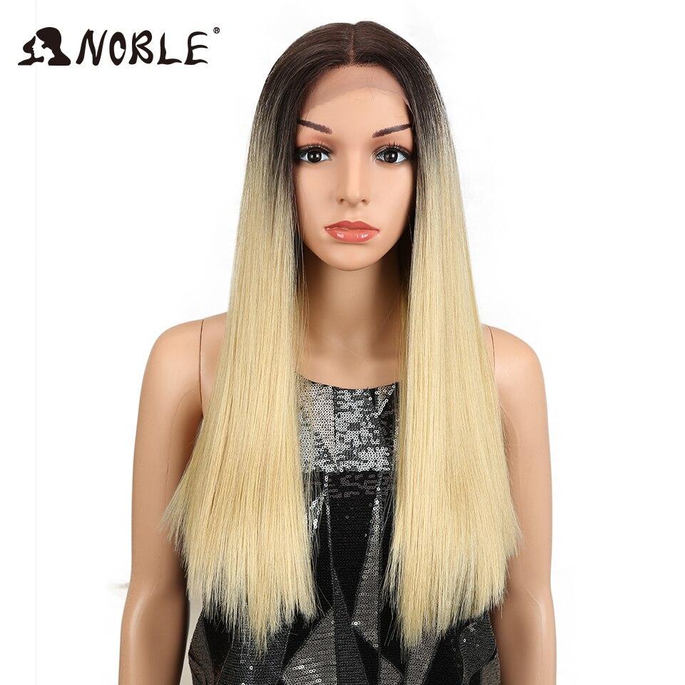 Благородный волосы 20 дюймов прямо синтетический Синтетические волосы на кружеве парик бесклеевого жаропрочных волос Omber золото зеленый цв...