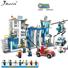 цена на [New] Police station building model sets blocks Playmobil helicopter diy bricks developing toys compatibility My Style police