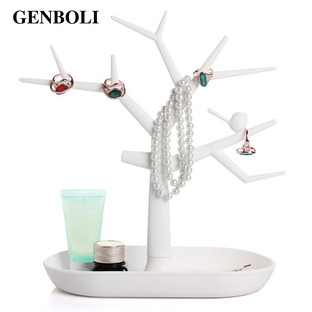 GENBOLI Tree Branch Watch Jewelry Displays Packaging For Ring Earrings Bracelet Necklaces Organizer Makeup Stand Holder