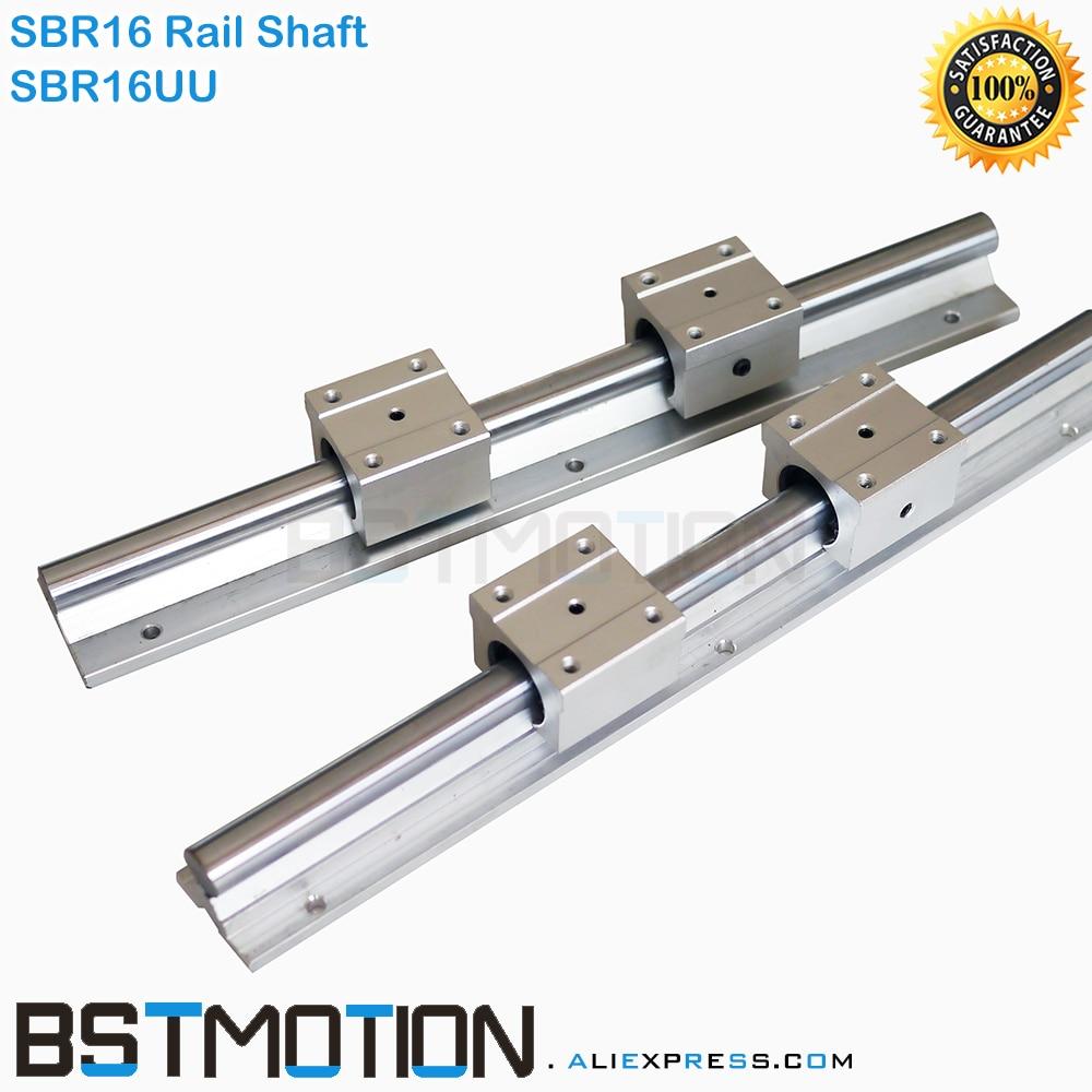 SBR16 16mm Linear Rail Support 200 300 400 500 600 700 800 900 1000 1100 1200mm