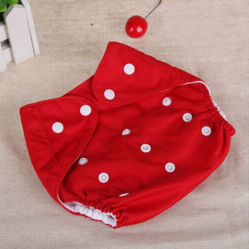 1 шт., регулируемые многоразовые тканевые подгузники для маленьких мальчиков и девочек, мягкие чехлы для младенцев, моющиеся подгузники - Цвет: Красный