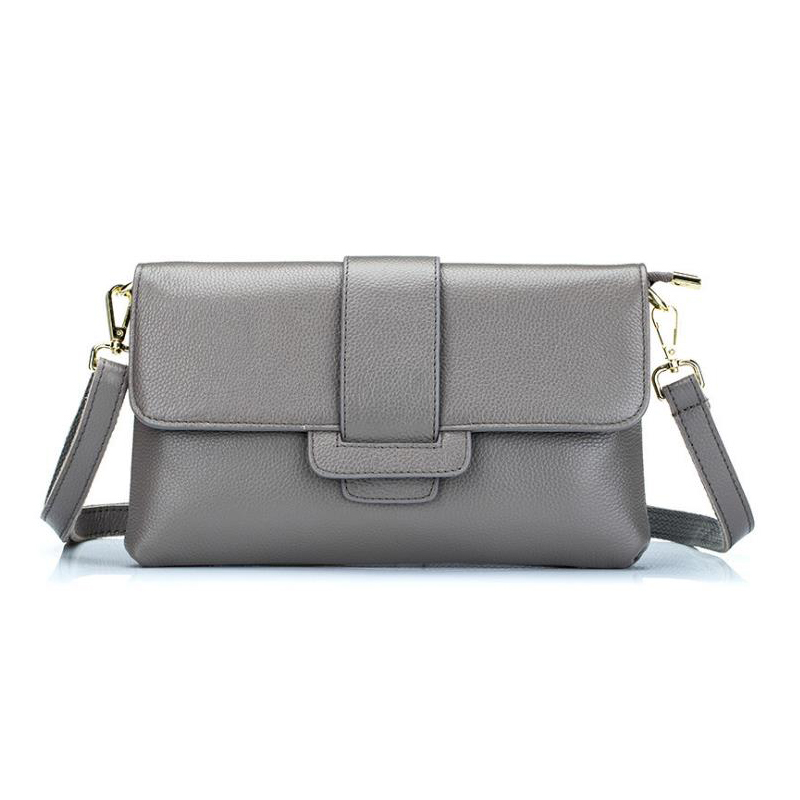 Soft Genuine Leather Women Handbags Solid Pattern Shoulder Bags Woman's Genuine Cow Leather Messenger bag lady crossbody bag genuine leather