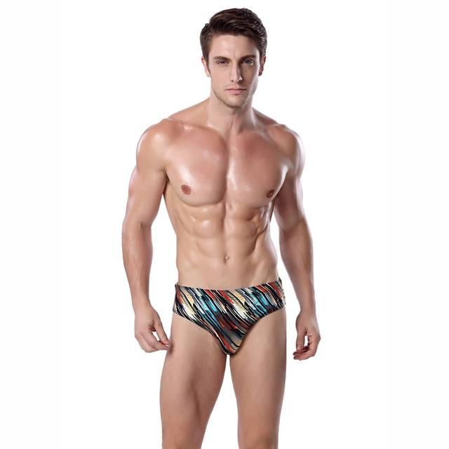 387e6cb10d32b placeholder Hot Sale Plus Size Male Swim Shorts Swimwear Vintage Stripe  Swimming Short for Men Elasitc Tie