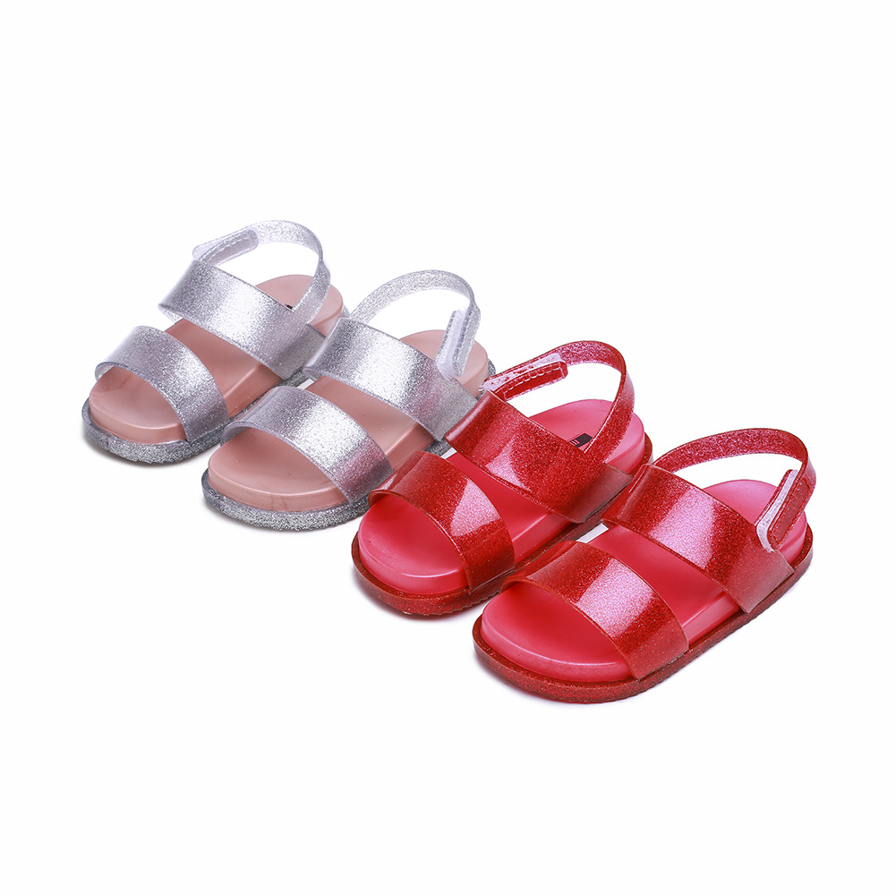 Childrens Shoes Jelly broadband Large Base Shoe Thickness PVC Sandals Girls SandalsChildrens Shoes Jelly broadband Large Base Shoe Thickness PVC Sandals Girls Sandals