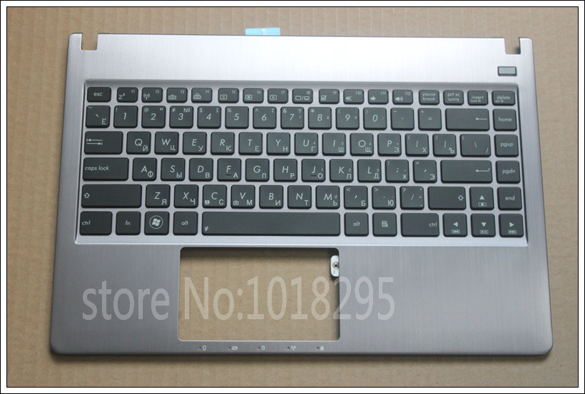 New RU Russia Backlit laptop Keyboard For ASUS U47 U47A U47VC silver with C shell palmrest cover