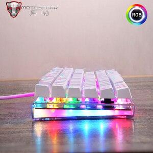 Image 3 - Оригинальная игровая клавиатура Motospeed K87S, механическая проводная клавиатура с USB, 87 клавиш, rgb подсветка, переключатель красный/синий, для ПК, для компьютерных игр