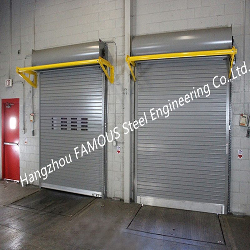 Light Duty Industrial Roll Up Doors High Speed Rigid Rolling Doors With Low Maintenance