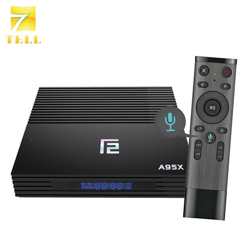 A95X F2 Controllo Vocale 4 GB 32 GB TV BOX Android 9.0 4 K Set Top 8ox Amlogic S905X2 Quad  Core 2.4G/5G Dual WiFi BT4.2 Media Player-in Set box TV da Elettronica di consumo su AliExpress - 11.11_Doppio 11Giorno dei single 1