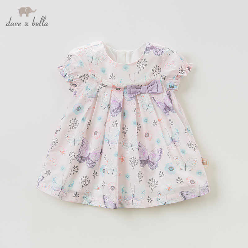 DBQ10534 dave bella summer baby girl's princess cute floral dress children party wedding dress kids infant lolital clothes
