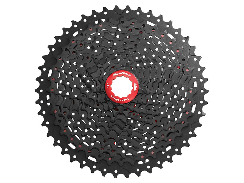 50T SunRace MX8 11-Speed bike Cassette Bicycle Freewheel MX 11-Speed Wide-Ratio Cassette 11-40/42/46T 2colors Black/Champagne