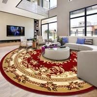 Hand Carved Round Carpet Livingroom Home Carpet Bedroom 100% Polypropylene Rug Sofa Coffee Table Floor Mat Study Room Woven Rugs