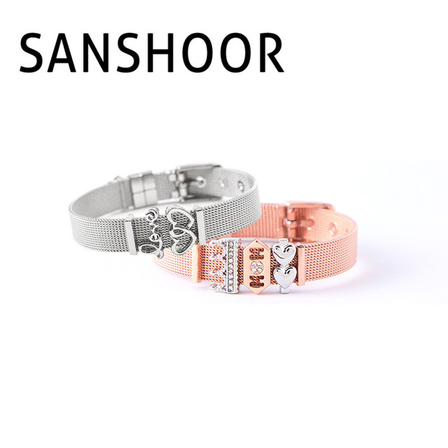 Sans Soulmate Charms Bracelet Set With Love Mom Slide As Mother S Day Best Gift