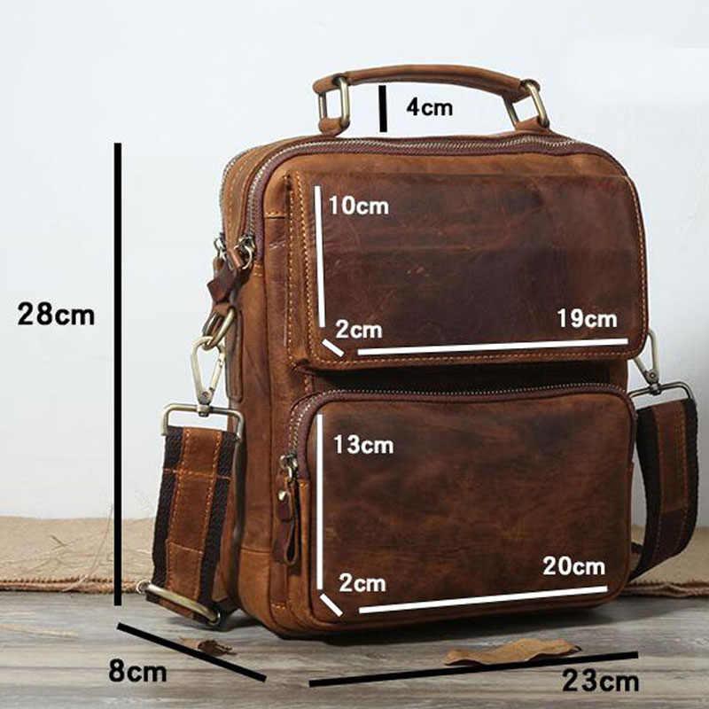 AETOO Crazy horse cuir rétro première couche d'huile cire cuir épaule en bandoulière portable vertical tendance décontracté cuir sauvage
