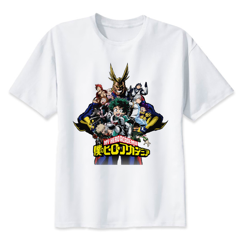 New Arrival My Hero Academia T Shirts Man Short Sleeve Clothing Boku No Hero Academia Funny Cartoon Print T-shirt For Man/woman 7