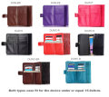 Lady Strap Hand Card Wallet Leather Mobile Phone Cases Bags Pouch For  Samsung Galaxy A7 (2017) Duos,Galaxy C5 Pro,Wiko Freddy