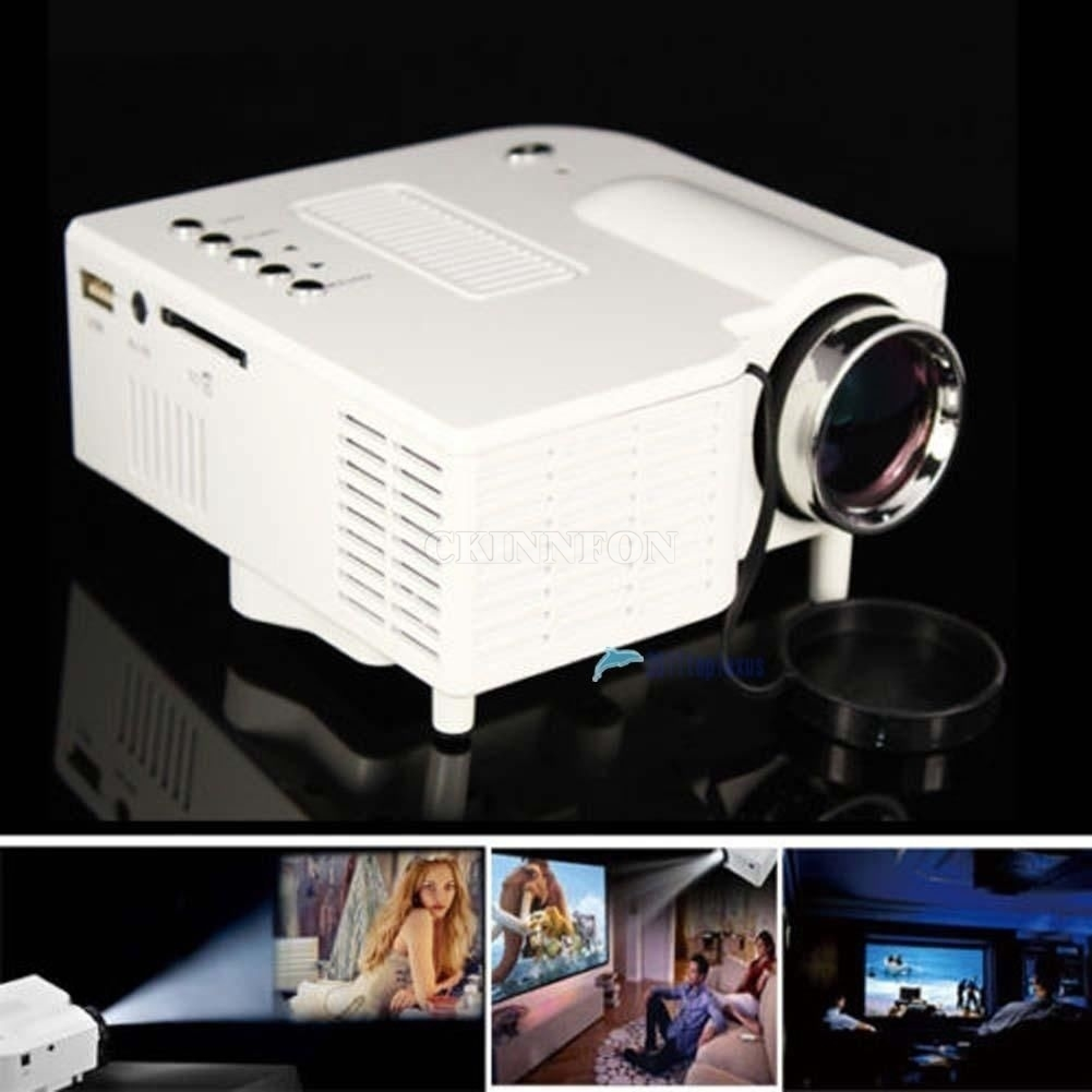 HD 1080P LED Multimedia Projector Home Theater Cinema VGA HDMI USB ...