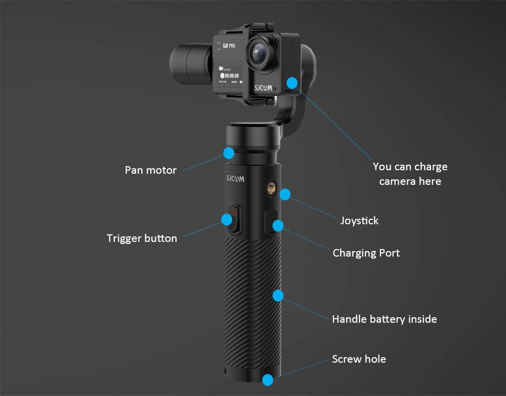 SJCAM SJ-Gimbal 2 Smooth 3-Axis Handheld Gimbal Stabilizer Bluetooth Control for SJCAM SJ8Pro/plus/air sj7 sj6 legend Action Cam 7