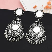 Thailand Indian Jewelry Vintage Gold Silver Bells Statement Earrings for Women Bohemia Jhumka Oorbellen Egypt Gypsy Tribal Party(China)