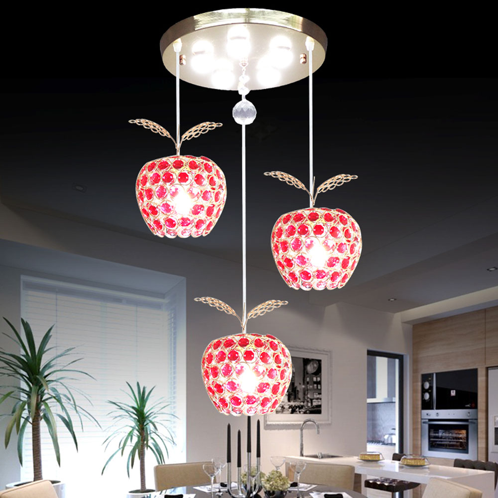Modern minimalist fruit crystal crystal pendant for Modern lamps for dining room
