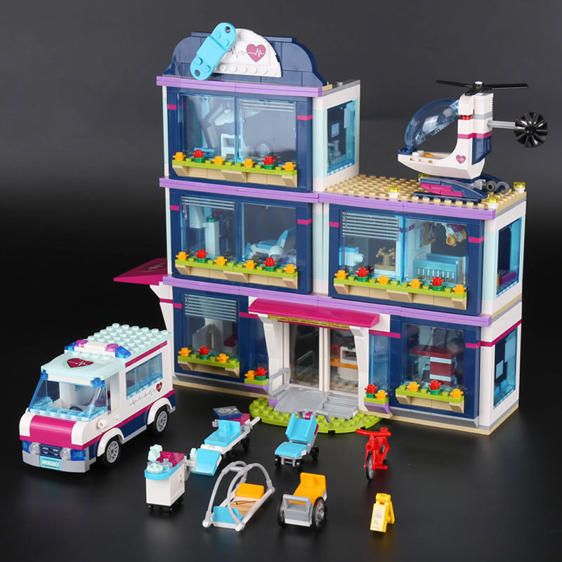 Lepin 01039 Friends Girl Series 932pcs Building Blocks Toys Heartlake Hospital Kids Bricks Toy Girl Gifts Compatible Legoe 41318 bela friends series heartlake puppy daycare building blocks classic for girl kids model toys marvel compatible with lepin