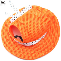 High Quality Mesh Fabric Pet Princess Hat Soft Queen Dog Festival Fashion Cap Hat Solid Color