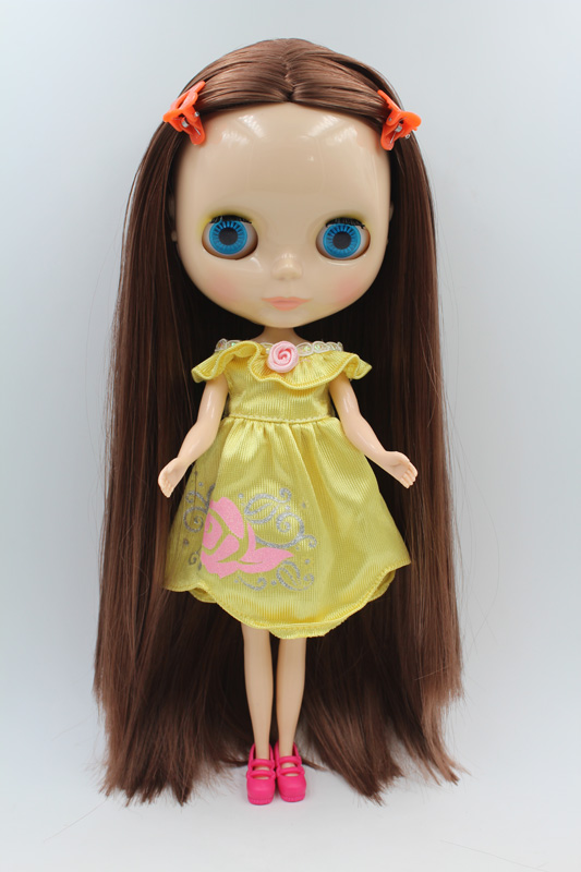 Free Shipping big discount RBL-261DIY Nude Blyth doll birthday gift for girl 4colour big eyes dolls with beautiful Hair cute toy free shipping bjd joint rbl 415j diy nude blyth doll birthday gift for girl 4 colour big eyes dolls with beautiful hair cute toy