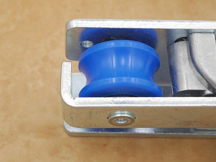 Livraison gratuite poulie de porte automatique opérateur porte coulissante rouleau suspendu automatique porte épandeur capteurs roue matériel partie - 3