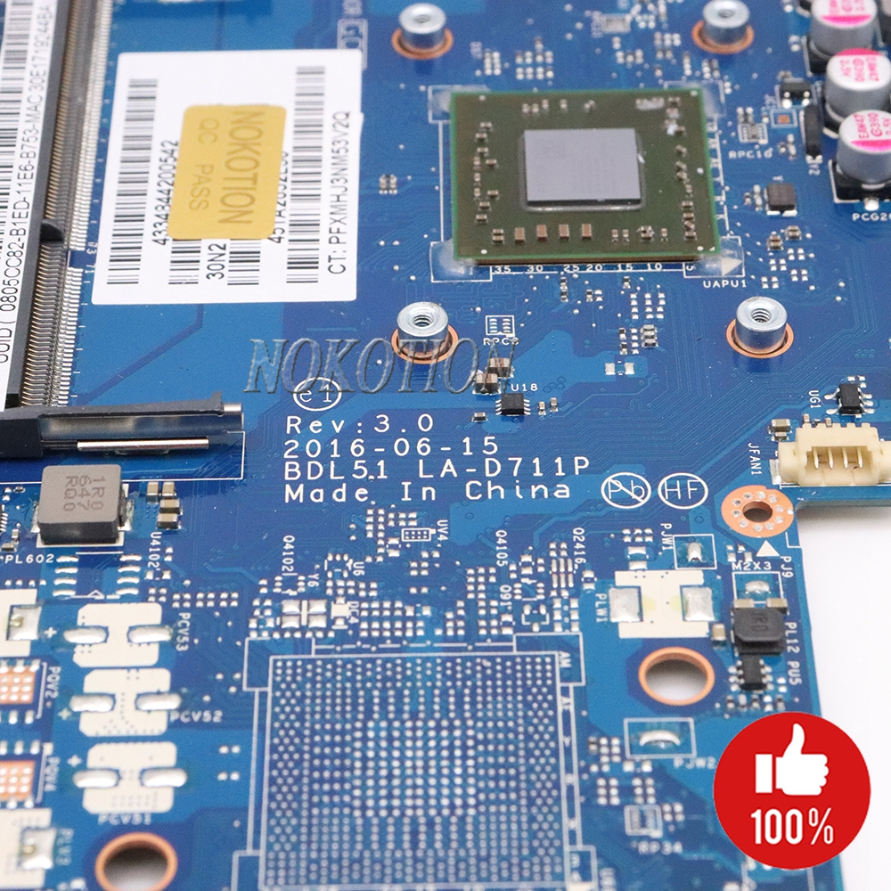 Image 5 - NOKOTION 854962 601 854962 001 Laptop Motherboard for HP 255 G5 15 BA BDL51 LA D711P 858589 601 858589 001 Main board-in Motherboards from Computer & Office