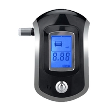 Professional Police Digital LCD Screen Breath Alcohol Tester the Breathalyzer battery Dropship Parking Car Detector Gadget Meter