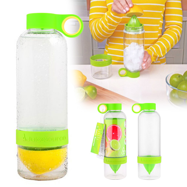 Green 830ml DIY Lemon Juicer Press Twist and Infuse Functions Lemon squeezer reamers fruit  juice bottle water bottle