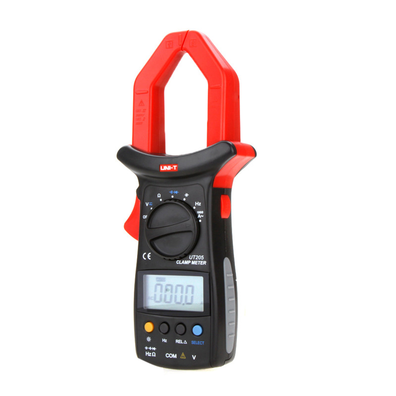 2017 UNI-T UT205 Ture RMS Auto/Manual Range Digital Handheld Clamp Meter Multimeter AC/DC voltage ACA Test Tool uni t ut205 ture rms auto manual range digital handheld clamp meter multimeter ac dc voltage aca test tool