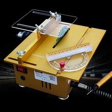 Прецизионная мини-Настольная пила ручной работы, деревообрабатывающая скамейка, DIY Модель пилы, оборудование для режущей пилы, машина постоянного тока 24 В 7200 об/мин, металлическая рама