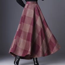 d168b5b7ee0db Buy plus skirt woolen and get free shipping on AliExpress.com