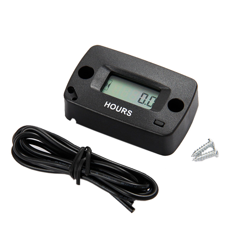 Waterproof LCD Inductive Gas Engine Hour Meter for MX jet ski ATV chainsaw jet boat lawn mower motorbike pit bike HM018