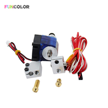 V6 J-head Extruder with Fan Volcano Block Long Nozzle 0.6/0.8/1.0/1.2mm Aluminum 1.75mm 12V 40W 1m for 3D Printers Dropshipping