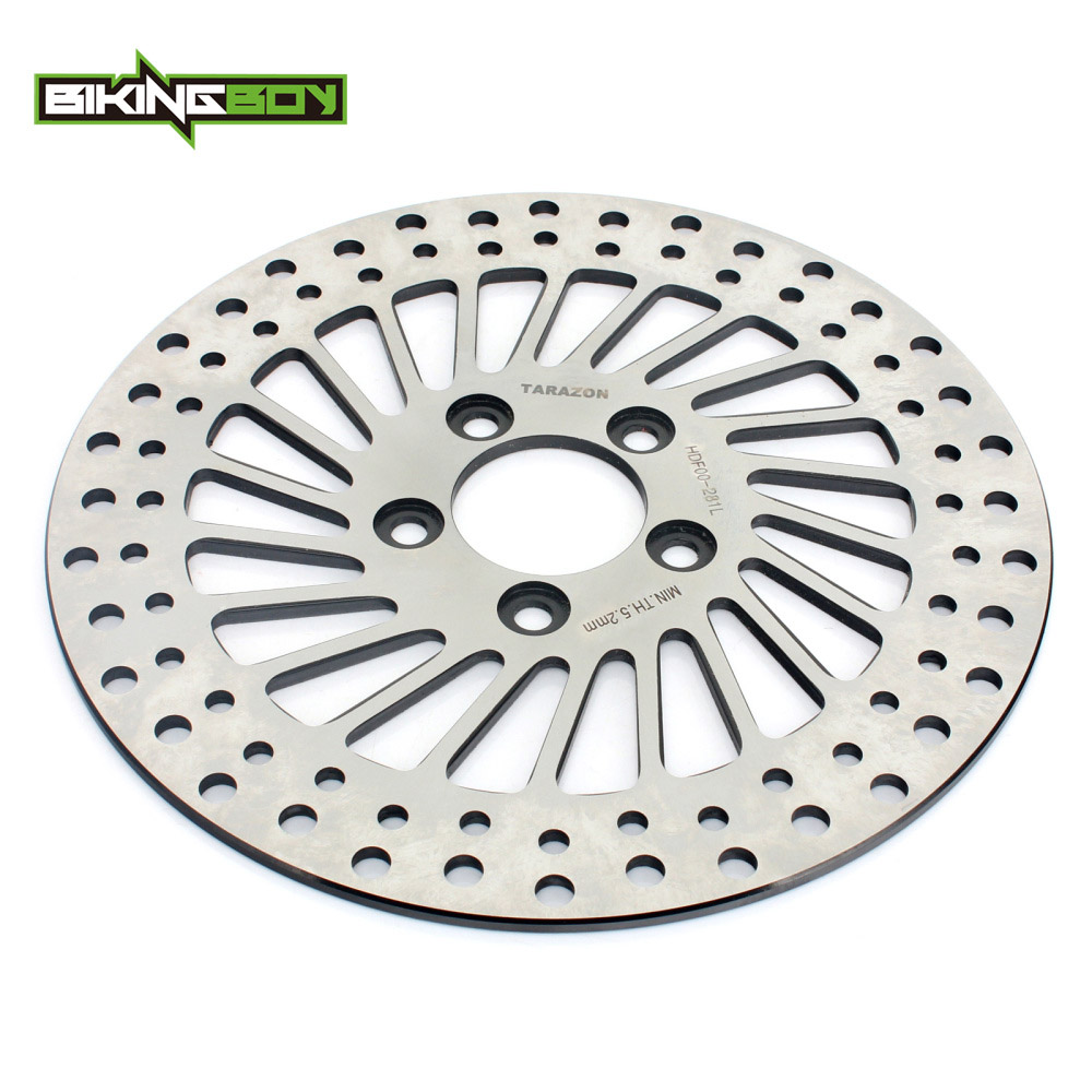 BIKINGBOY Rear Brake Disc Disk Rotor 883 1200 XL XLH FLST I FLTR I FLHT I