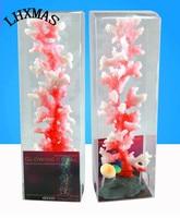 1pcs New Nontoxic Colorful Artificial Silicone Fake Coral Aquarium Decoration Resin Plastic Simulation Coral 5Sizes A045