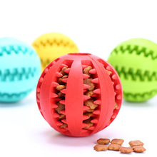 New Pet Dog Treat Trainning Chew Sound Food Dispenser Toy Tooth Cleaning Squeaky Ball  Bite Resistant for