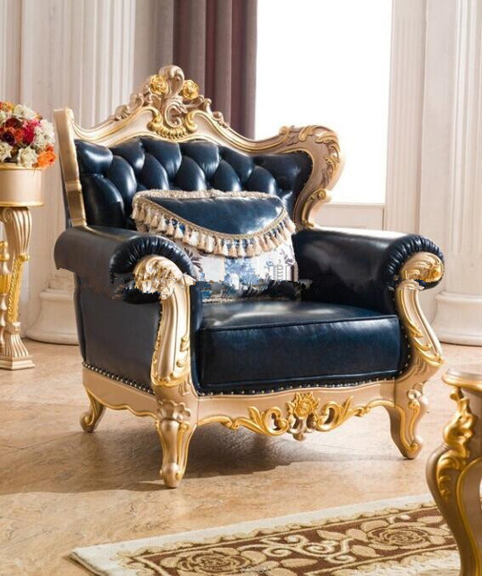 Genial European Style Sofa Royal Furniture Sofa Set With Top Grain Italian Leather  Sofa For Single Chair