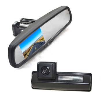 Vardsafe VS538R | Parking Reversing Backup Camera + Replacement Rear View Mirror Monitor for Toyota Camry