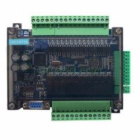 FX3U 24MR 6AD 2DA high speed PLC industrial control board with 485 communication and RTC