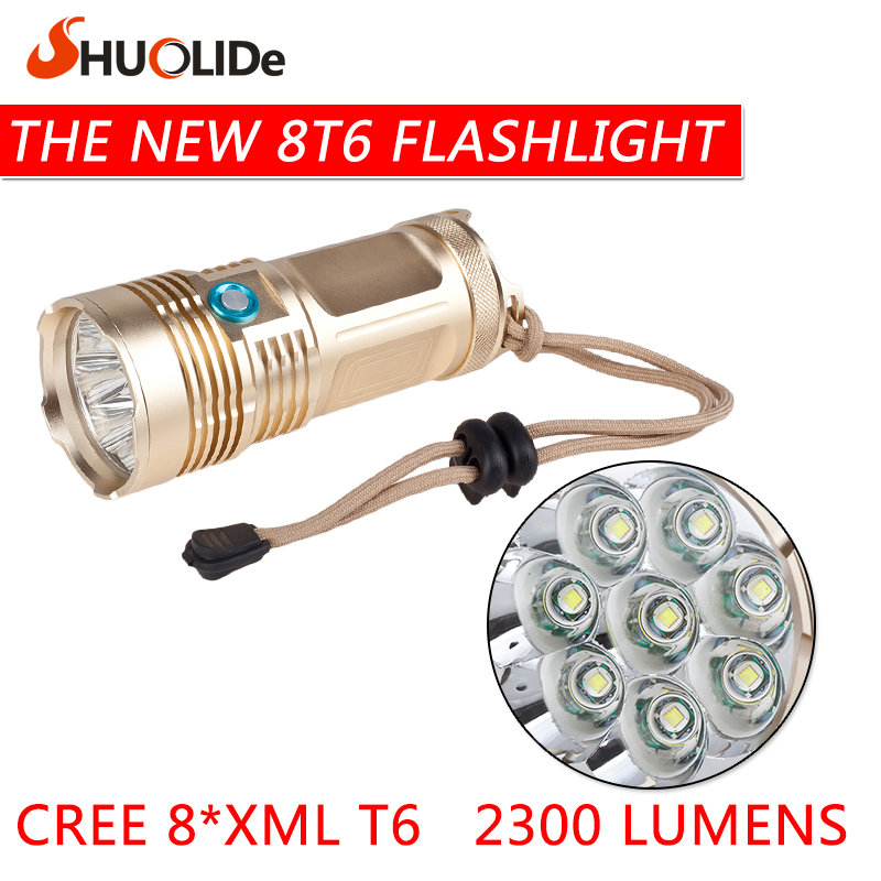 New 8T6 glare flashlight 18650  linternas  portable lamp Outdoor lighting Practical Flashlight lanterna led flashlight glare 30