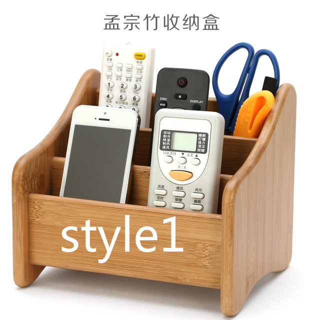 Eco Friendly Solid Wood Remote Control Storage Box Creative Office Desktop Living