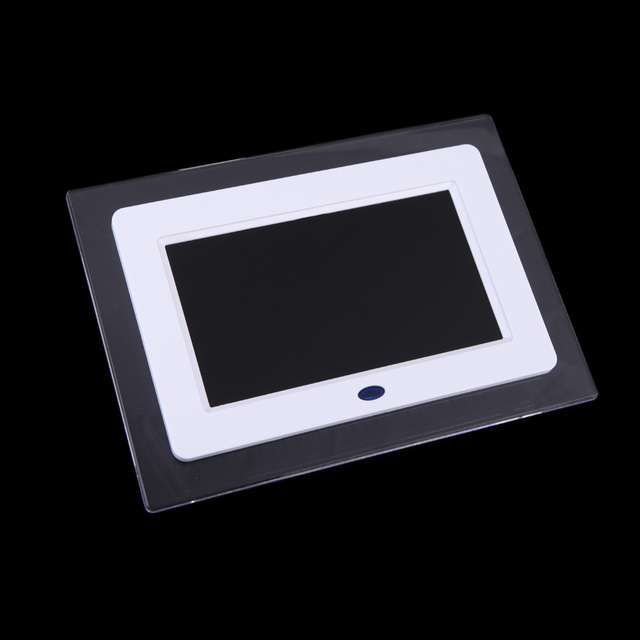 New 7 Inch Hd Tft Lcd Digital Photo Frame With Slideshow Transparent